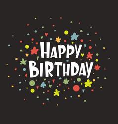 greeting card happy birthday vector image