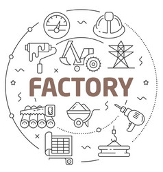 lines factory vector image
