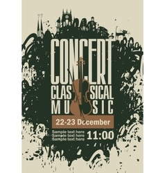 poster for a concert of classical music vector image vector image