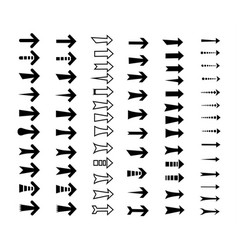 straight arrows icon set vector image