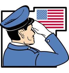USA Service man vector image vector image