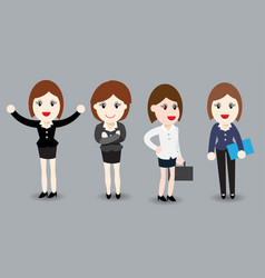 business woman flat design - vector image vector image