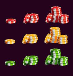 cartoon casino chips vector image