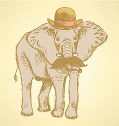 Elephant Hat vector image vector image