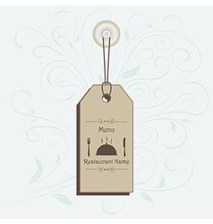 restaurant menu label brochure design element with vector image