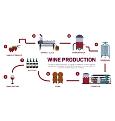 wine making How wine is vector image vector image