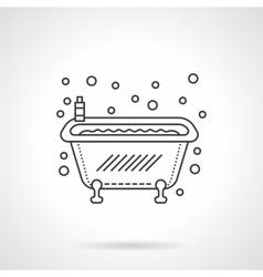 Bathtub icon flat line design icon vector image vector image