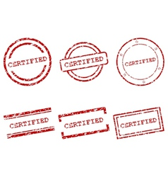 Certified stamps vector image vector image