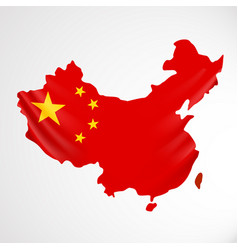 china flag in form of map people republic of vector image vector image
