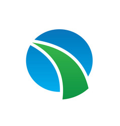 circle abstract arrow business finance logo vector image vector image