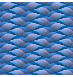 curled blue waves seamless vector image vector image