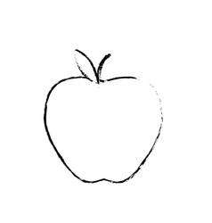 figure delicious apple fresh fruit nutrition vector image vector image