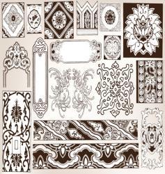 floral vintage vector image