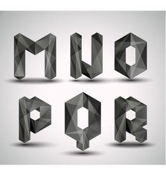 fractal geometric alphabet vector image