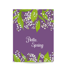 hello spring floral card for holidays decoration vector image vector image