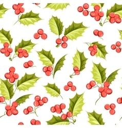 Mistletoe seamless pattern vector image vector image
