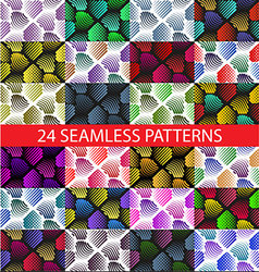 Seamless colorful abstract pattern with stylized V vector image vector image