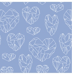 Seamless pattern made of mineral heart vector image vector image