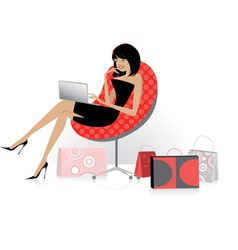 Shopping online vector image vector image
