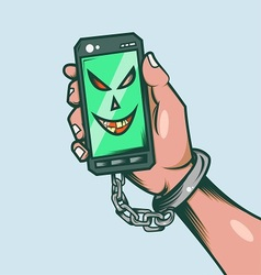 Smart phone slave vector image vector image