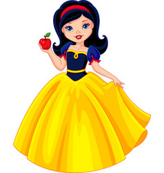 snow white vector image vector image