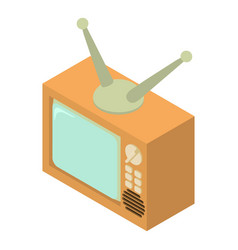 tv icon isometric 3d style vector image