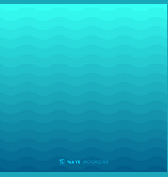 abstract blue waves lines underwater background vector image