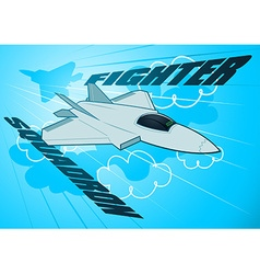 Air force jet fighter squadron in sky vector