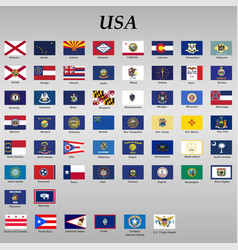 all flags states united states vector image
