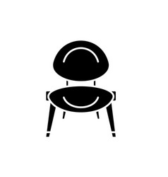 Baby chair black icon sign on isolated vector