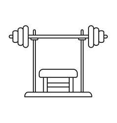 Bench press fitness related icon image vector