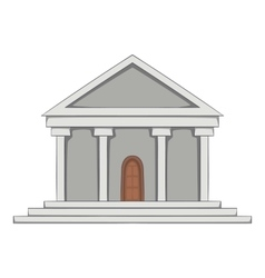 Big building icon cartoon style vector
