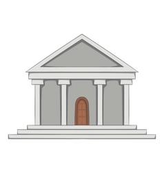 Big building icon cartoon style vector image
