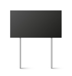 Black blank board with place for text protest vector
