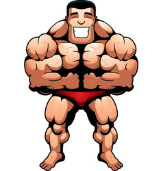 Bodybuilder flexing vector