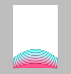 Brochure template from curved stripe layers vector