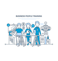 Business people training consulting learning vector