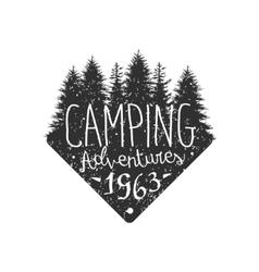 Camping Adventures Vintage Emblem vector image