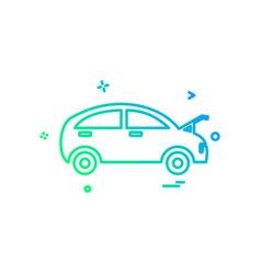 car repairing shop icon design vector image