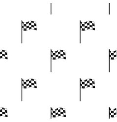 checkered flag icon black single sport icon from vector image