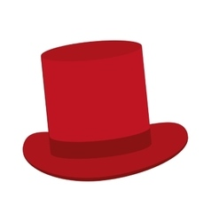classic red tophat vector image