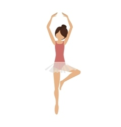 colorful dancer pirouette fifth position vector image