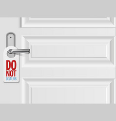 do not disturb concept white door vector image