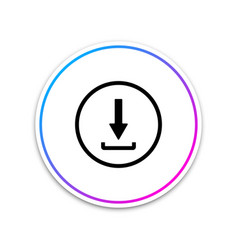 download icon isolated upload button load symbol vector image