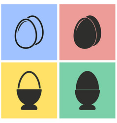 egg icon set vector image