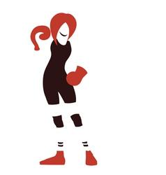 Emblem of woman box vector image