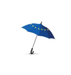 euro union flag colored umbrella travel europe vector image
