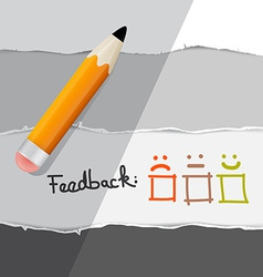 Feedback Symbols with Pencil vector image