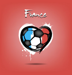 Flag of france in the form of a heart vector