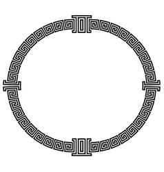 Frame in greek style vector